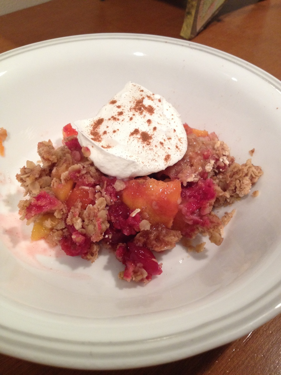 Quick and Easy Cranberry Peach Crisp