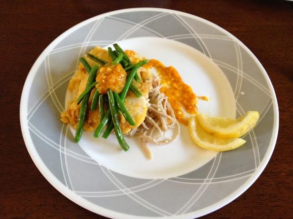 Pan-Fried Tilapia with Mango PeachSalsa