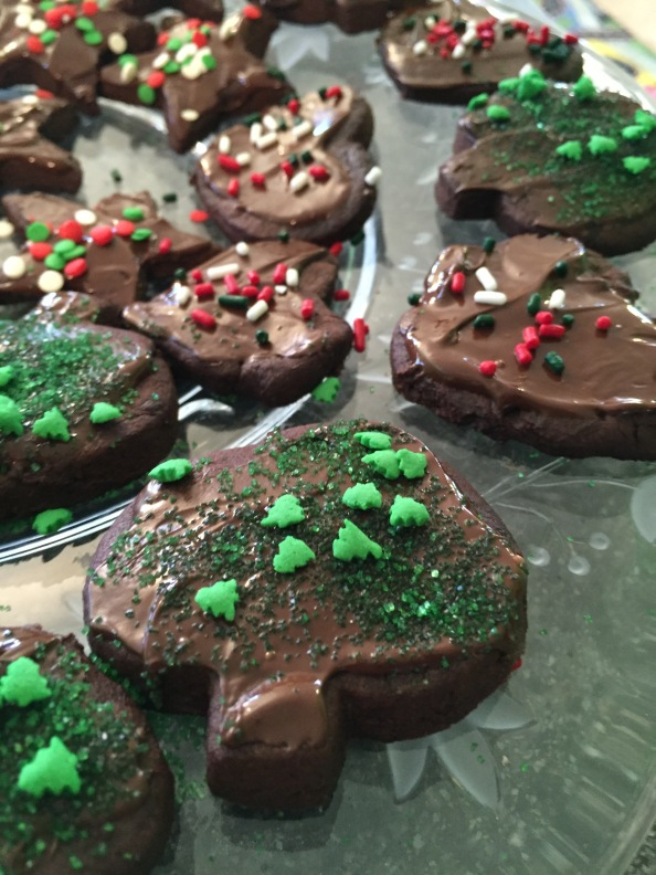 Chocolate Lover's Christmas Cut-Out Cookies with ChocolateGlaze