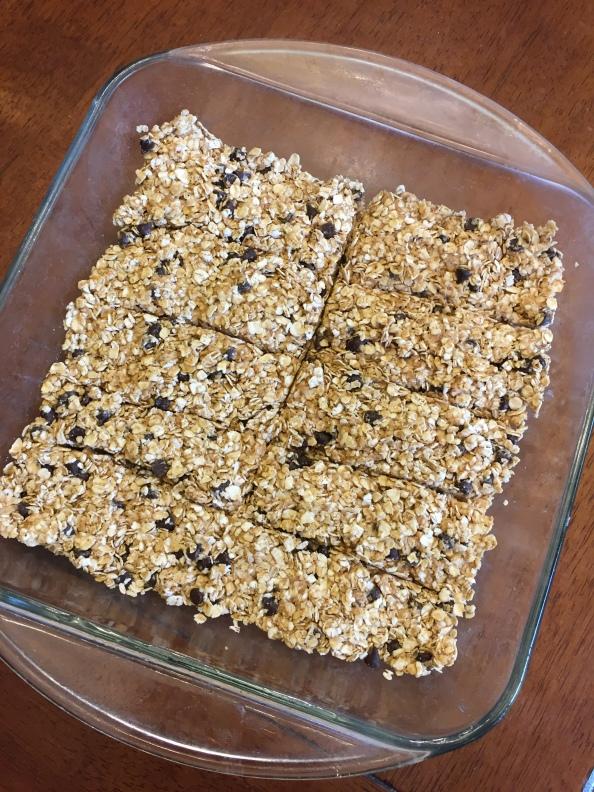 No-Bake Peanut Butter Chocolate Chip GranolaBars
