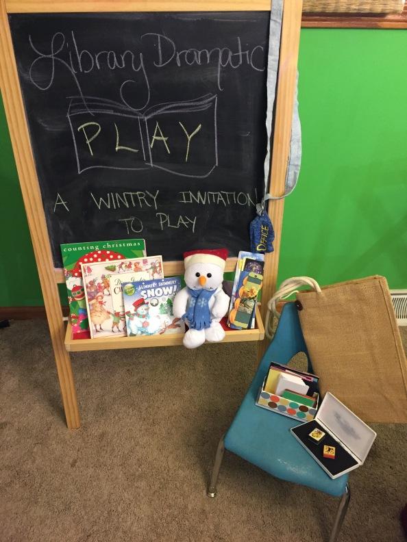 Library Dramatic Play: A WintryInvitation