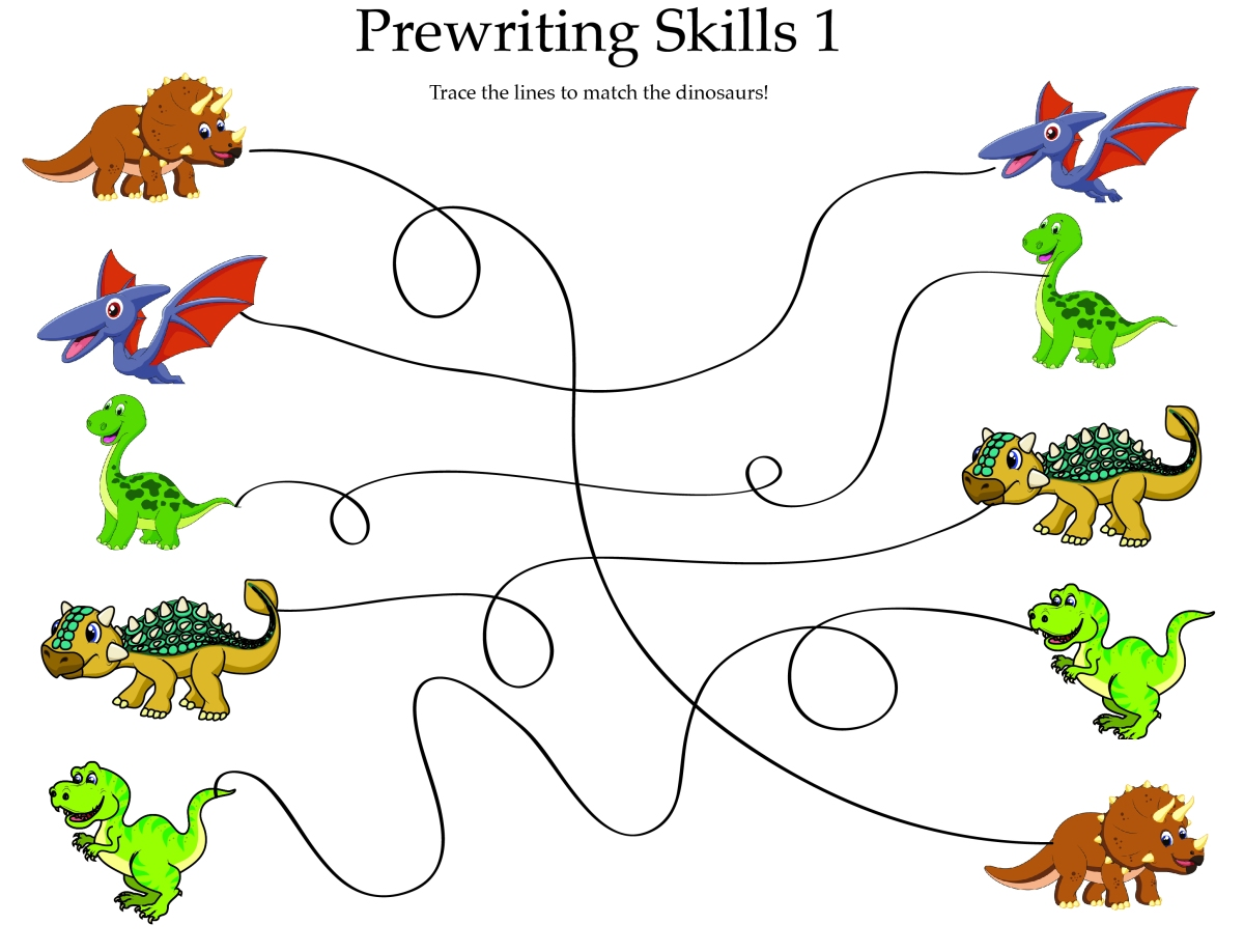 Dinosaur Prewriting Worksheets {freebies!}